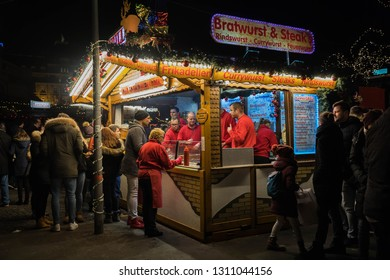 Mannheim, Germany, December 2018 - Christmas market in the city.