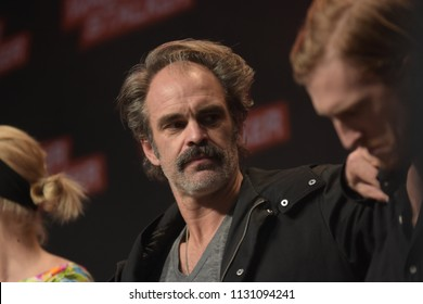 MANNHEIM, GERMANY - MAR 17th 2018: Steven Ogg (Actor, Simon on The Walking Dead) at Walker Stalker Germany, a two day convention for fans of The Walking Dead