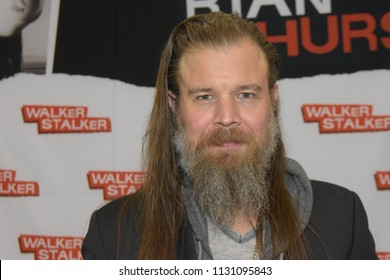 MANNHEIM, GERMANY - MAR 17th 2018: Ryan Hurst (*1976, actor, Sons of Anarchy, Remember the Titans, We Were Soldiers) at Walker Stalker Germany, a two day convention for fans of The Walking Dead