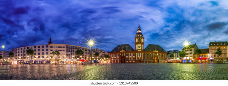 Mannheim town hall at the market square