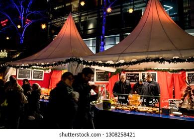 Mannheim,Baden württemberg/Deutschland-December 27, 2018:Christmas festival with various children's themes