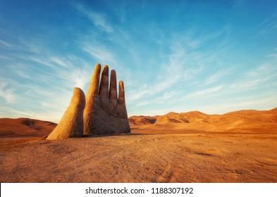 Mano del Desierto, Desert Hand, Chile, Next to Public Highway taken in 2015