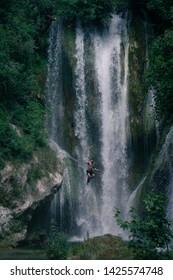 Manojlovac waterfall, NP Krka, Croatia - Cliff jumping