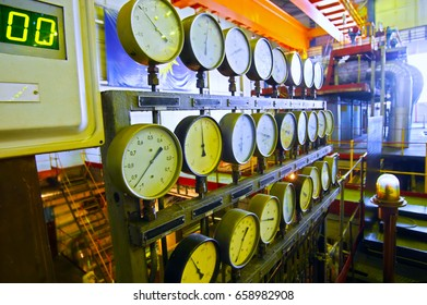 Manometers at power plant