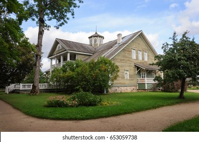 Manor house of Peter Abramovich and Benjamin Petrovich Hannibal in Petrovskoye village. State Museum-reserve of A. S. Pushkin, Pskov Region, Russia.