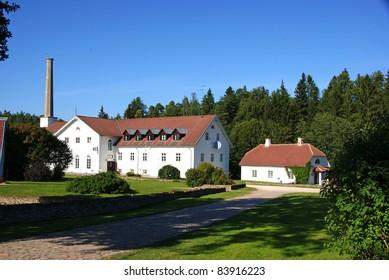 Manor in the north of Estonia. 18 century. Palmse.