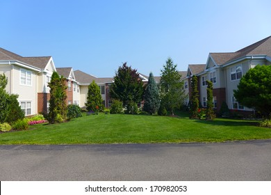Manor and village buildings for retirement seniors