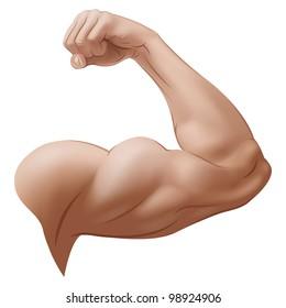 Man's Arm. Rasterized Version
