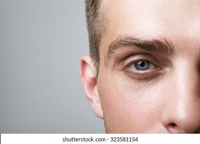 The man's eye