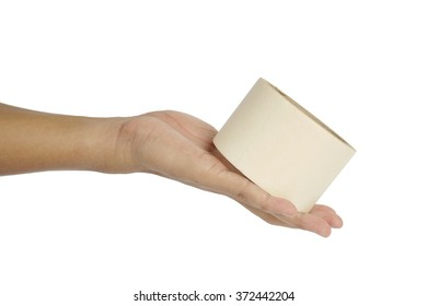 man's hand holding a cellulose tape