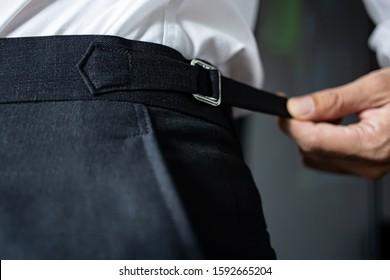 Hand Tools on Grey Suspenders Belt Clip