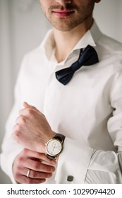 A man's hand with a watch. wrist watch, classic