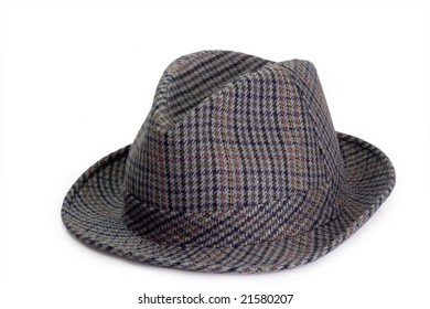 Mans hat isolated on white background