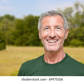 man's portrait doing outdoor activity