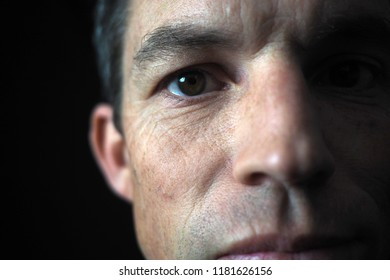 Man's portrait with dramatic light