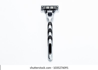 man's razor on a white background. Close-up.