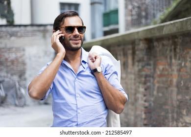 Man's style. dressing suit, shirt, glasses