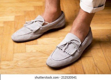 Man's style, moccasins shoes