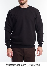 Man's sweatshirt of black color