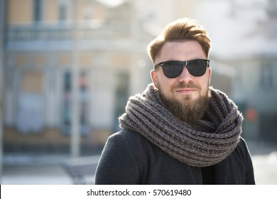 Man's winter portrait