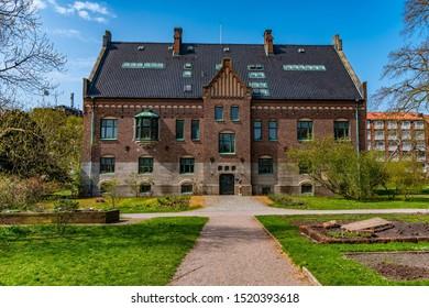Mansion at the botanical garden in Lund, Sweden