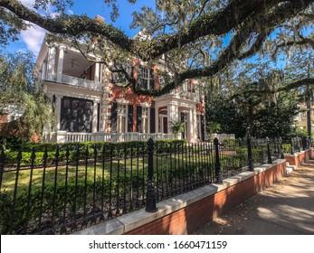 Mansion front elevation Savannah, Georgia