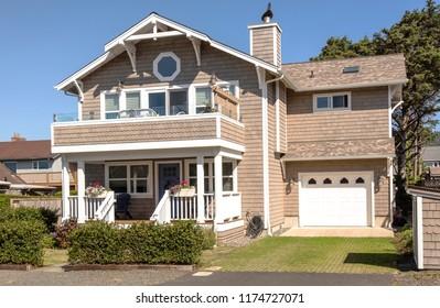 Mansion home beach property Canon Beach Oregon.
