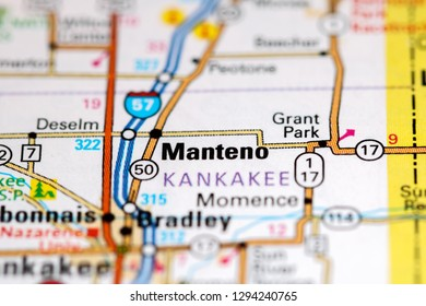 map of manteno illinois