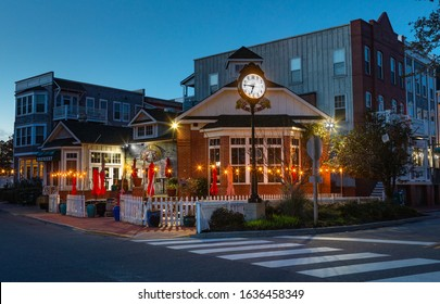 Manteo, NC/USA - January 27, 2020:  The quaint, historic town of Manteo is one of the first English settlements in the New World and a travel destination and tourist attraction today.