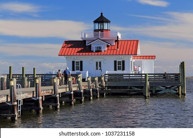 MANTEO, NORTH CAROLINA – OCTOBER 22: The Roanoke Marshes Lighthouse is perhaps the most prominent landmark in the quaint coastal community of Manteo October 22, 2017 in Manteo, North Carolina