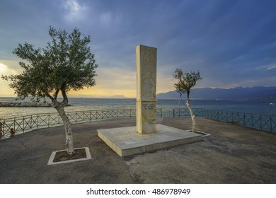 MANTINIES - GREECE AUGUST 2016: Monument at Mantinia near Kalamata in Messenia - Greece. It writes Monument for the Heroes and fallen soldiers who had fought for the freedom of Greece.