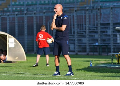 Mantova, Italy, August 10 2019 Eugenio Corini allenatore Brescia during the Amichevole - Brescia vs Real Valladolid CALCIO SERIE A