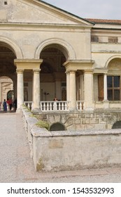MANTOVA, ITALY - OCTOBER 2006: Te Palace with its frescoes and architecture