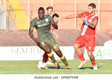 Mantova, Italy, September 04 2019 MARIO BALOTELLI OF  BRESCIA AND GATANO NAVAS OF MANTOVA  during Test Match 2019 - Mantova Vs Brescia Soccer Test Match