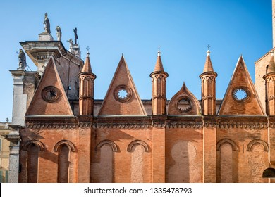 Mantua - Italy - FEBRUARY 18 2019: Mantua Cathedral (Cattedrale di San Pietro apostolo, Duomo di Mantova) in Mantua, Lombardy, northern Italy, is a Roman Catholic cathedral dedicated to Saint Peter.