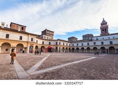 Mantua, Italy - January -4 -2019: European capital of culture and UNESCO world heritage site