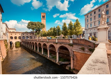 MANTUA, ITALY - MAY 06,2018: Middle channel- italian landscape and travel destinations - Mantua italy