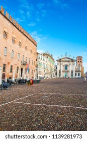 MANTUA, ITALY, MAY 29, 2018: View of Piazza Sordello in Mantua (Mantova), north Italy