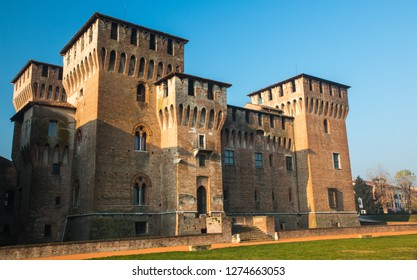 MANTUA, ITALY, SEP 22, 2017: Medieval fortress, Gonzaga Saint George (Giorgio) castle in Italy, Mantua (Mantova)