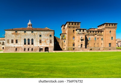 Mantua (Mantova) - July 2017, Lombardy (Lombardia), Italy: View of the Mantua Castle (Castello di Mantova)