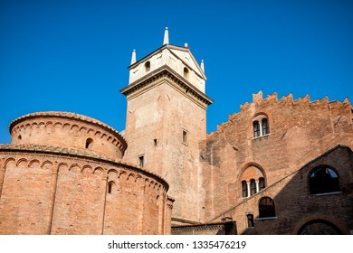 MANTUA: Rotonda di San Lorenzo church and Clock tower in Mantua (Mantova). Italy