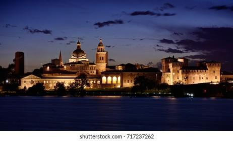 Mantua skyline at the sunset - Shutterstock ID 717237262