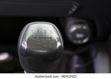Manual 6 Speed Gearstick in a car