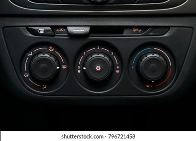 manual air conditioning controls of the car