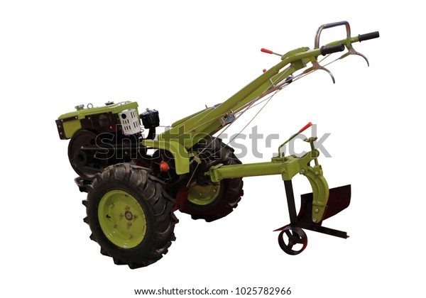 Manual Cultivator Motoblock Motorcultivator Isolated On