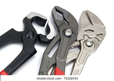 Manual locksmith tools, isolated on a white background