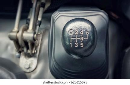 manual shift gear transmission stick of heavy duty transportation truck, six gear level