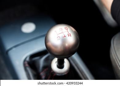 A manual transmission in car