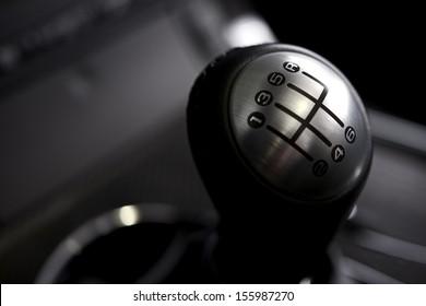 Manual Transmission Stick. Six Speed Car Transmission. Transportation Collection.