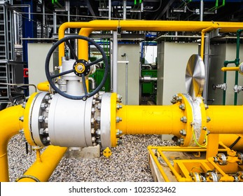 Manual valve of fuel gas line in power plant.